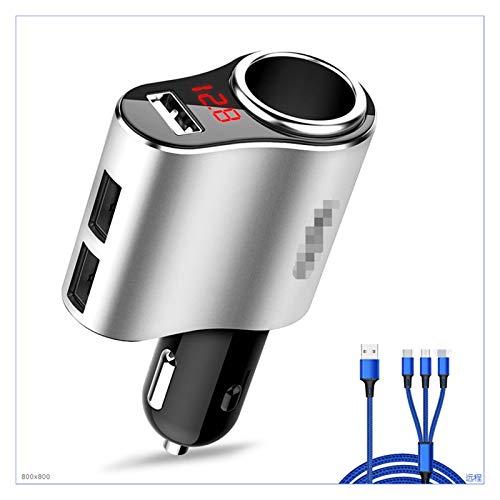 LIULIANG MeiKeL Sockets de 1 vía 5V / 3.1A Coche de Cigarrillo del Encendedor de Cigarrillos Voltímetro Splitter Adaptador de Corriente 12~24V 3 Cargador de Coche USB Ajuste para GPS DVR