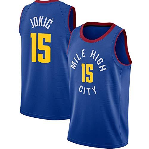 HZHEN Jerseys de la NBA de los Hombres, Nikola Jokic # 15 Jerseys de Baloncesto Denver Nuggets, Fresco Tela Transpirable Camisa de Entrenamiento Ventilador sin Mangas Chaleco,3,L(175~180CM/75~85KG)