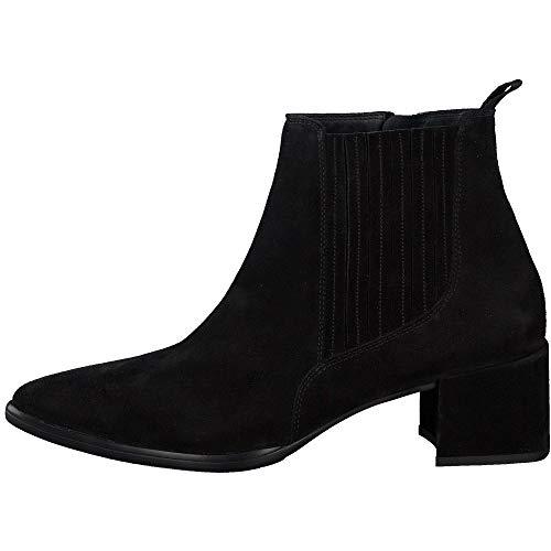 Paul Green Damen Stiefelette, Frauen Chelsea Boots, Ladies feminin elegant Women's Women Woman Freizeit leger Stiefel Bootie,Schwarz,4 UK / 37 EU