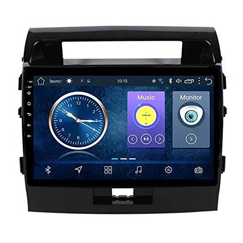 ZHANGYY Unidad Principal estéreo de Radio de Coche Android 8.1 2DIN de 10.1 Pulgadas Compatible con Toyota Land Cruiser 2007-2012, navegación GPS/Bluetooth/FM/RDS/Control del Volante/cámar