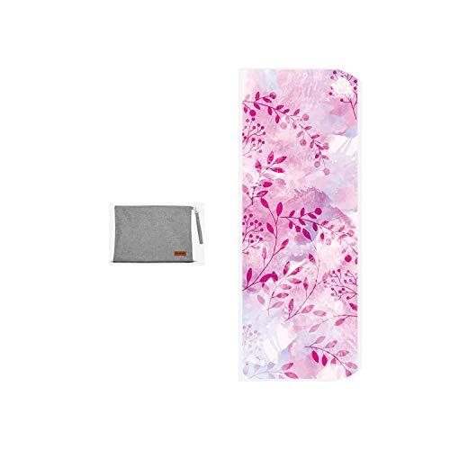 Tapis de yoga pour femmes | 2020 nouveaux tapis de yoga pliants imprimés 183 * 68 cm * 1,5 mm mince en daim naturel caoutchouc antidérapant Pilates couvertures à usages multiples-Mi Huan Xiao Cao-