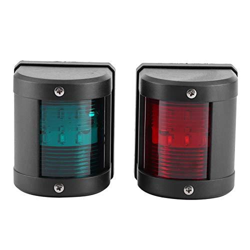 Longzhou Par de lámpara de señalización IP66 LED Rojo Verde luz de Advertencia de navegación Apta para Yates de Barcos Marinos 12V