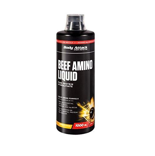 Body Attack Beef Amino Liquid 2 x 1 Liter 2er Pack Kirsch