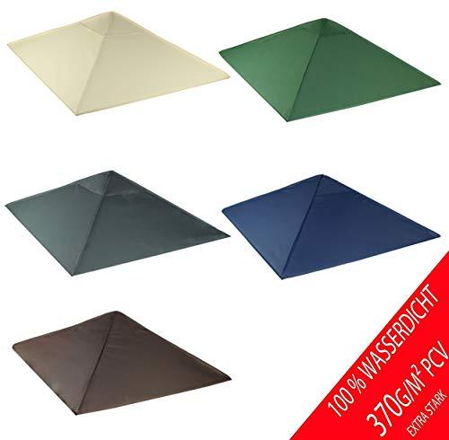 freigarten.de Ersatzdach für Pavillon 3x3 Meter Sand Antik Pavillon Wasserdicht Material: Panama PCV Soft 370g/m² extra stark Modell 3 (Grün)