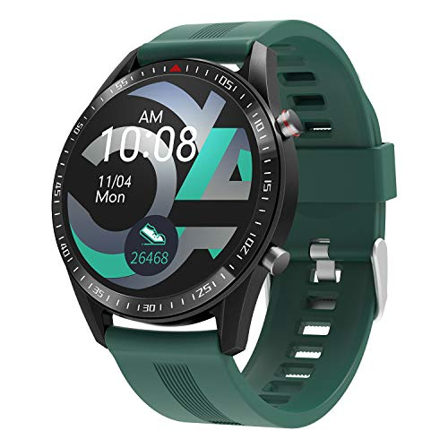 """moreFit Smart Watch,Health and Fitness Watch with Heart Rate Sleep Monitor, 1.3"""" Color Full Touch Screen Activity Tracker with 23 Sport Modes,Pedometer Watch with Step Calorie Counter for Men Women"""