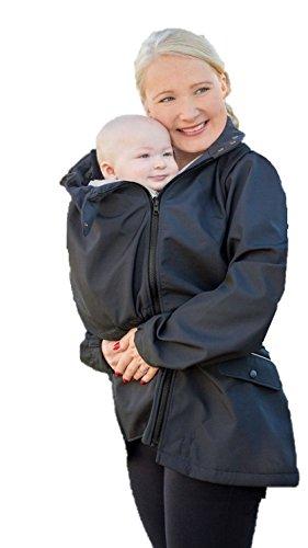 Manduca by MaM Two-Way-Jacket, Tragejacke, Trageweste und Umstandsjacke, Abnehmbare Ärmel, mit Babyeinsatz (S, Upgrade InnerCosy (Softshell/MaM-Tec-Membran/Fleece))