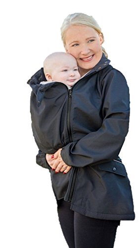 Manduca by MaM Two-Way-Jacket, Tragejacke, Trageweste und Umstandsjacke, Abnehmbare Ärmel, mit Babyeinsatz (S, Upgrade InnerCosy (Softshell/MaM-Tec-Membran/Fleece))