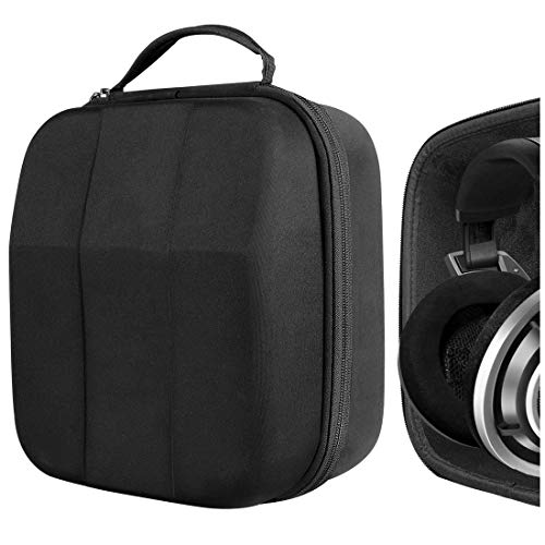 Geekria UltraShell Case for Large Sized Over-Ear Headphones, Replacement Protective Hard Shell Travel Carrying Bag with Cable Storage, Compatible with Beyerdynamic DT 880 Pro, AKG K701 (Drak Grey)