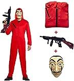 Disfraz de La casa de Papel para Disfraz Ladrón Disfraces Carnaval Halloween. Incluye un Traje con...