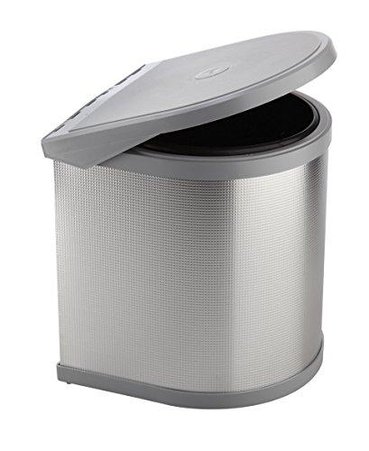 ELLETIPI Ring ppi607/1all.Basura automática de Puerta para Base, plástico y Aluminio, Gris, 27x 27x 32cm
