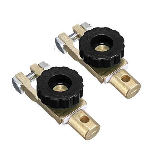 2 pacchi Interruttore per disconnessione della batteria, Dispositivo Staccabatteria Rapido per Auto, 12 V o 24 V, per auto, camion, barca, veicoli