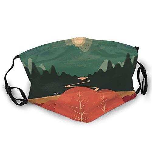 Mundschutz,Staubdichter Schal,Sturmhaube Mouth Face Cover Schal Midday Mountains Face Schal Sonnenfeste Mode Bandana Kopfbedeckung zum Angeln