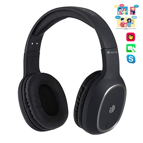 NGS Artica Pride- Auriculares de Diadema, estéreo, inalámbricos, Bluetooth, con micrófono, 7 Horas de autonomía, Manos Libres, Color Negro