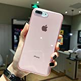iPhone 8 Plus Case,iPhone 7 Plus Case,[Matte Shock-Absorption Bumper Edge] Silicone TPU Soft Gel Phone Cover for Apple iPhone 7/8 Plus 5.8' (2018) - Clear Pink