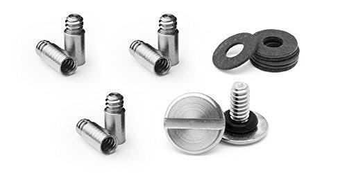 KeySmart Paquete de expansión con tornillos, espaciadores y postes (hasta 22 llaves)