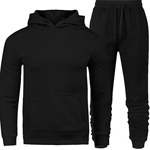 Conjunto Moletom Masculino Blusa Preta com Calça Masculina Preta