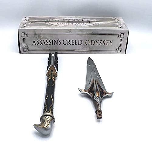 WSJYP Assassin S Creed Odyssey 9th Generation Onidas Xiujie Long Spear Hoja Oculta Cos Sword Stick Doll