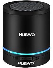 ブルートゥーススピーカー、Nubwo ワイヤレス ポータブル Bluetooth Speaker ミニスピーカー、5時間再生、ハンズフリーコール可能 高音質 3Wドライバー、AUXライン、TFカードスロット付き マイク内蔵 iPhone、iPod、iPad、Samsung、Sony、LGなど