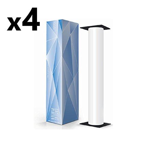 Confezione 4 Rotoli Plotter cm 91,4x50 mt 80 gr/mq Anima 50 Carta Bianca A0
