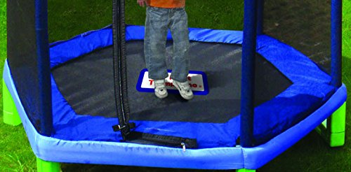 Sportspower My First Trampoline 84 Inch Outdoor Trampoline with Safety Net Enclosure, Blue/Green