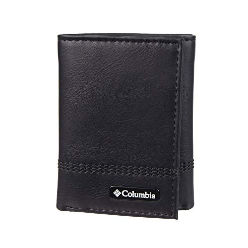 Columbia Men's RFID Blocking Leather Slim Trifold Wallet, Brown2, One Size