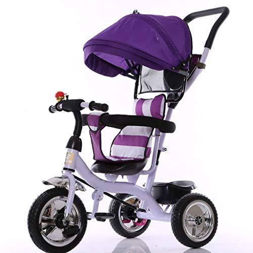 LICHUAN Sistema de viaje triciclo para niños, 1 a 5 años, rueda vacía de titanio, cochecito de bebé, cochecito de bebé, cochecito de bebé, cochecito de coche de juguete (color: C)