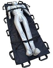 Camilla suave plegable médica, camilla suave del rescate de la emergencia para el hospital, clínica, hogar, se divierte los ambientes, ambulancia negra, 180 × 70cm