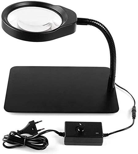 Coat hooks Ronglibai Lupenbrille Halten Vergrößerungsglas-Lupe 10-mal die LED-Lampe Electronics HD HD-Reparaturschweißen Reparatur-Arbeitsblatt Multifunktions-Erweiterungsspiegel