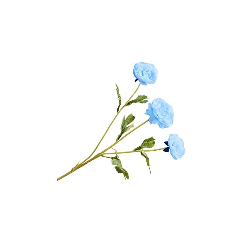 silk flower arrangements perzoe bright-colored faux silk flower artificial rose flower multi-use decorative table display for mothers easter day gifts blue
