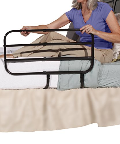 Fantastic Prices! Able Life Bedside Extend-A-Rail, Adjustable Senior Bed Safety Rail and Bedside Sta...