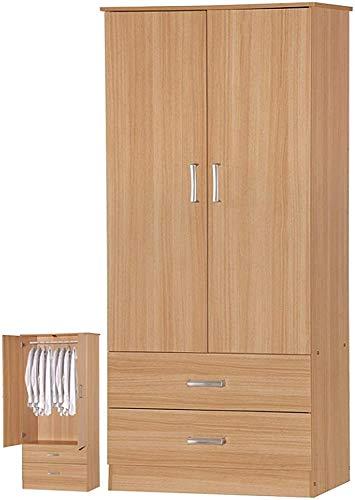 Todo Armario de madera maciza de dos puertas armario de almacenamiento minimalista original de madera de pino armario sencillo dormitorio moderno subconjunto,Pine