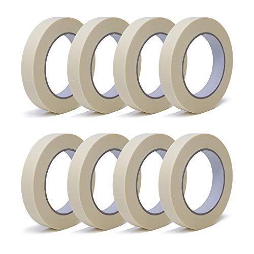 gws Maler-Kreppband | Abdeck-Klebeband in Profi-Qualität | Krepp-Klebeband in versch. Breiten | für feine & saubere Farbkanten | Länge: 50 m (8 Rollen - 19 mm breit)