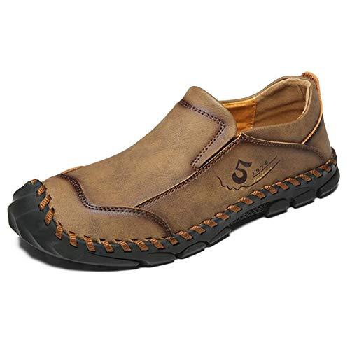 YLJXXY Hombres Mocasines Ocio Cómodo Zapatos para Nuevo Calzado de Conducción,Caqui,47