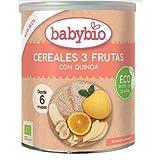 Papilla de Cereales y 3 Frutas babybio,220 g