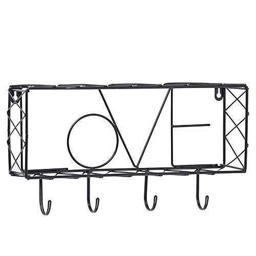Metalen Zwevende Planken Met 4 Haken Creatieve Wandplanken Wanddecoratie Zwevende Wandplank Voor Slaapkamer Woonkamer Badkamer Keuken,Love