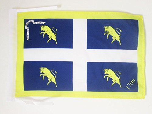 AZ FLAG Bandiera Città di Torino con Stemma 45x30cm - BANDIERINA Torinese - Turin 30 x 45 cm cordicelle