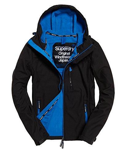 Superdry Hooded WINDTREKKER Veste de Sport, Noir (Black/Super Denby), (Taille Fabricant: Medium) Homme