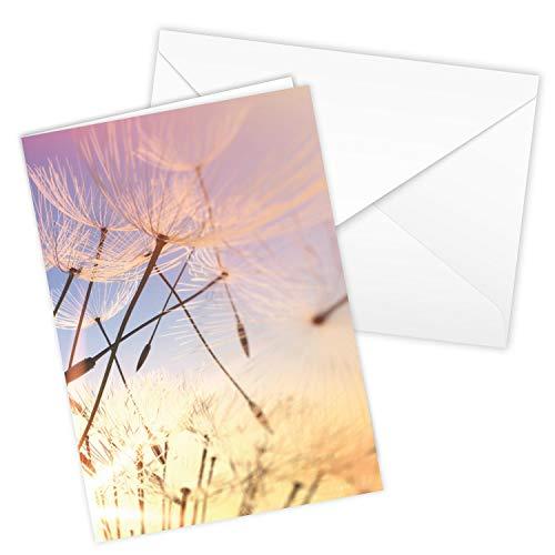 Würdevolle Trauerkarte mit Umschlag I DIN A6 I Beileidskarte Kondolenzkarte mit Natur-Motiv I UV-Lack glänzend I hochwertig modern I neutral dv_857