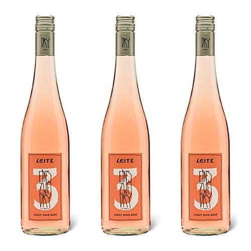 Weingut Leitz - Eins Zwei Dry Rosé | Pinot Noir Rosé aus Deutschland | Trocken | Jahrgang 2018 | (3x 0,75 L)