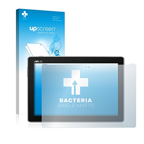upscreen Antibakterielle Entspiegelungs-Schutzfolie kompatibel mit Asus ZenPad 10 Z301ML - Anti-Reflex Bildschirmschutzfolie matt, Anti-Fingerprint