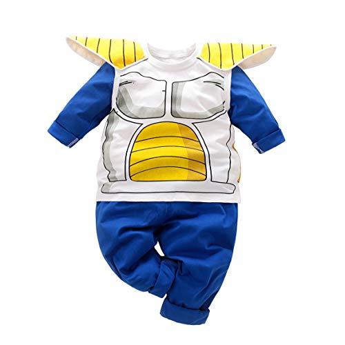 Bebé Ropa recién Nacido Vegeta Jumpsuits bebé Encantador Manga Larga Dibujos Animados Ropa Conjunto
