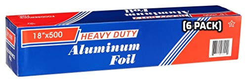 Buy Discount [6 Pack] Heavy Duty Food Service Aluminum Foil Roll (18 inch x 500 FT) with Sturdy Corr...