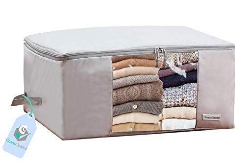 Clothes Storage Bags – Clothing Organizer folding fabric bags for sweaters, clothing, garment, bed - http://coolthings.us