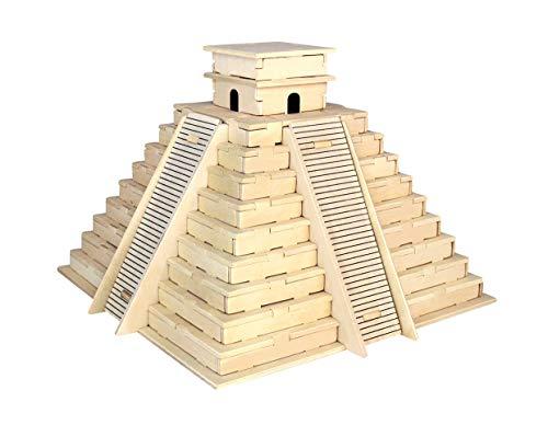 Inka-Pyramide 3D Holzbausatz Holz Pyramide Gebäude Steckpuzzle Bauwerk Holzpuzzle P253