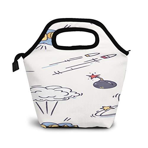 NiWCGP Cartoon-Kugel Lunchtasche Wasserdicht Mittagessen Tasche Isolierte Mittagessen Kühler Picknicktaschen für Frauen Kinder Mädchen Männer Jungen Büro Schule Reisen