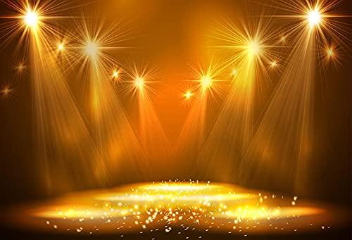 Fondo de fotografía Iluminación Musical Hall Club Luz de neón Escenario Cumpleaños Baby Shower Photo Studio Telón de Fondo A2 5x3ft / 1.5x1m