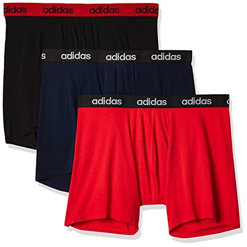adidas M Co 3Pp Brief Boxer, Hombre, Escarl/Negro/Maruni, S
