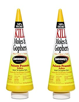 Sweeney s Mole and Gopher Poison Peanuts Bait 6 Ounce  Pack of 2