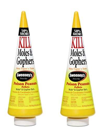 Sweeney's Mole and Gopher Poison Peanuts Bait 6 Ounce (Pack of 2)