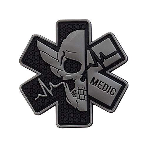 Aufnäher Patches PVC Klett Abzeichen Klettbänder Militär Aufkleber für Rucksäcke, Hut, Jacke (Farbe C, 1 pcs)